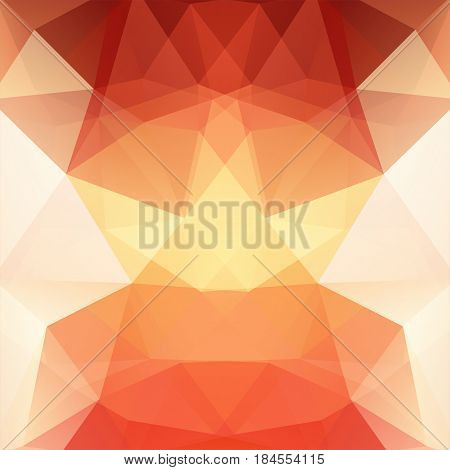 Abstract Mosaic Background. Triangle Geometric Background. Design Elements. Vector Illustration. Red