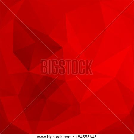 Abstract Background Consisting Of Red Triangles. Geometric Design For Business Presentations Or Web