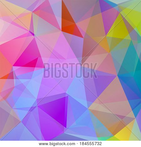 Background Of Geometric Shapes. Colorful Mosaic Pattern. Vector Eps 10. Vector Illustration