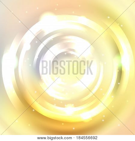 Abstract Background. Shining Circle Tunnel. Elegant Modern Geometric Wallpaper. Vector Illustration.