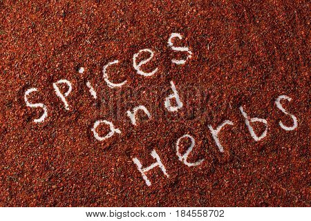 Red Pepper Spice Square Isolated On White Background