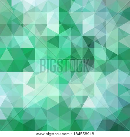 Abstract Geometric Style Green Background. Light Business Background Vector Illustration