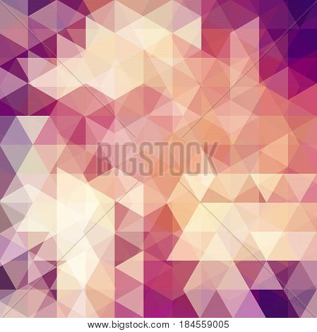 Abstract Mosaic Background. Triangle Geometric Background. Design Elements. Vector Illustration. Pur