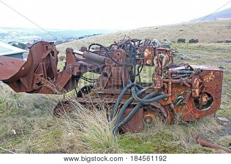 Derelict loader at Blaenavon coal mine, Wales
