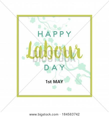 Abstract Holiday Happy World Worker's Labour Day Card