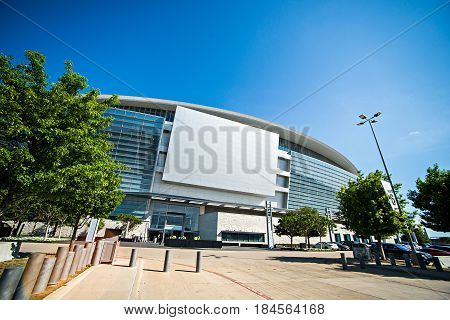 April 2017 Arlington Texas - AT&T NFLcowboys football stadium on a sunny day