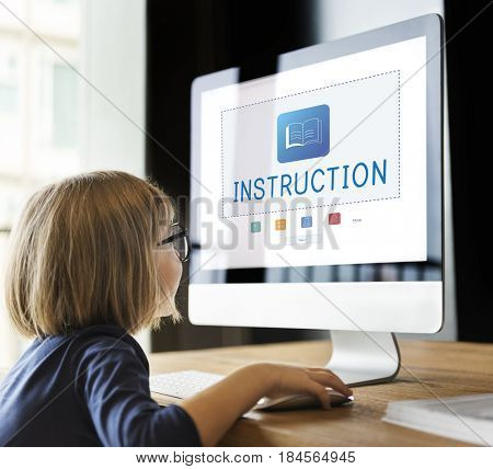 E-Book Online Learning Education Knowledge Graphic