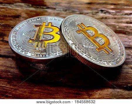 Two Silver Bitcoin Coins