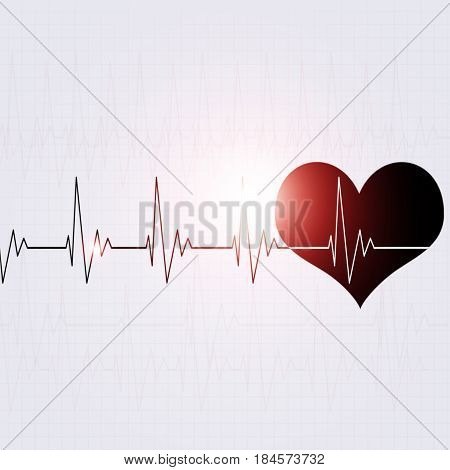 Heart Rhythm Bright Background
