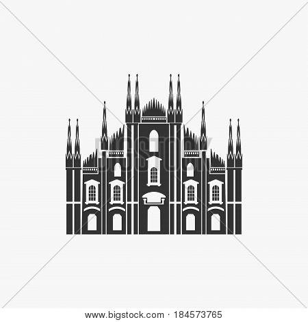 Milan Cathedral Vector Illustration eps 8 file format