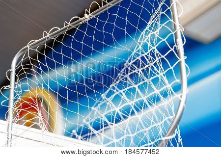 Net in fishing gear in a hunting and fishing store