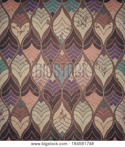 Abstract Grunge Colorful Print Modern Geometric Pattern