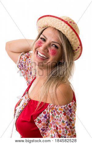 Brazilian woman on Junina Party costume