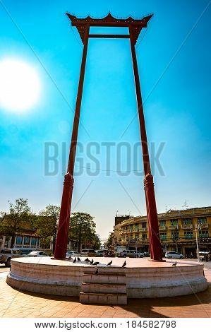 The giant swing, Sao Ching Cha, in Bangkok, Thailand