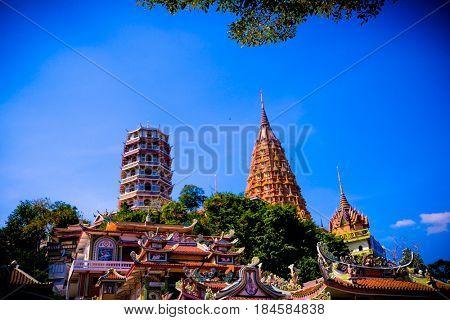 Wat Tham Sua , Temple , Kanchanaburi.