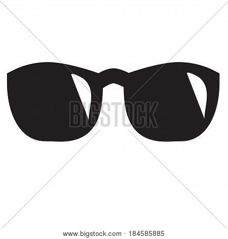 Isolated sunglasses icon on white background with highlights