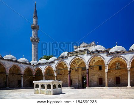 The Inner Courtyard Of Suleymaniye Mosque, Istanbul