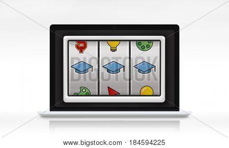 Slot Machine Mortar Board Graduation Education