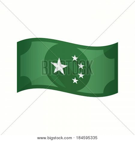 Isolated Bank Note With  The Five Stars China Flag Symbol