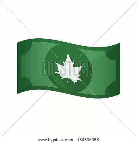 Isolated Bank Note With An Autumn Leaf Tree