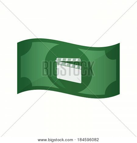 Isolated Bank Note With A Clapperboard