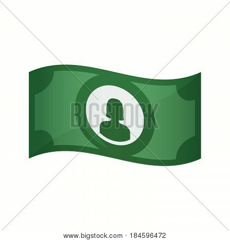 Isolated Bank Note With A Female Avatar