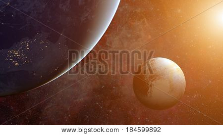Solar System - Pluto. Science Background.
