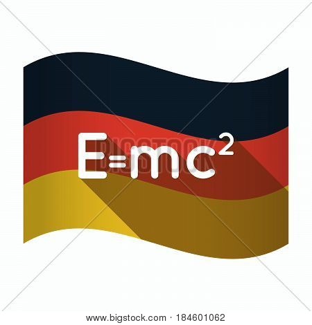 Isolated Germany Flag With The Theory Of Relativity Formula