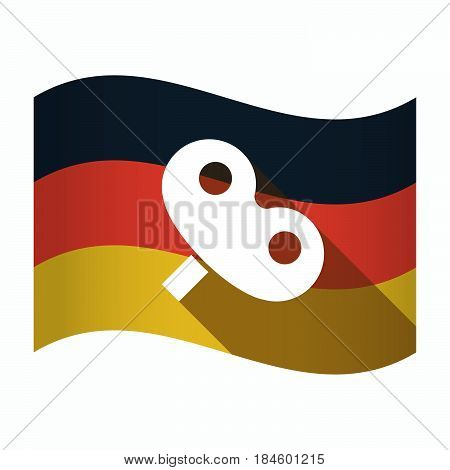 Isolated Germany Flag With A Toy Crank