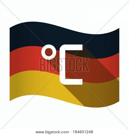 Isolated Germany Flag With  A Celsius Degree Sign