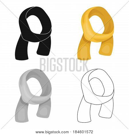 Yellow Sunny spring scarf for the warm weather.Scarves and shawls single icon in cartoon style vector symbol stock web illustration.