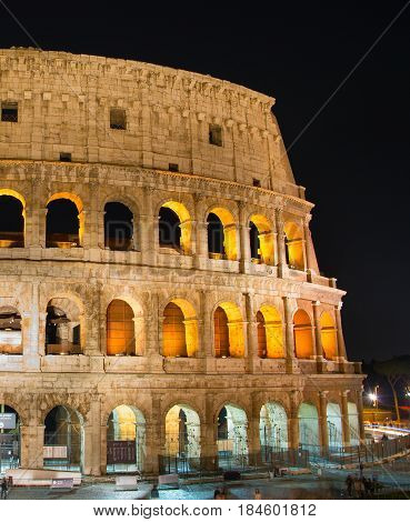 Night View Of Colosseum, Rome