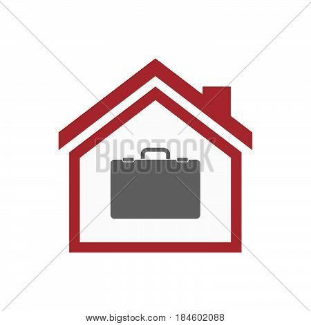 Isolated House With  A Briefcase