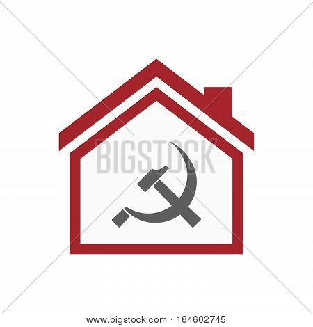 Isolated House With  The Communist Symbol