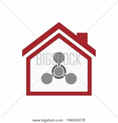Isolated House With A Chemical Weapon Sign