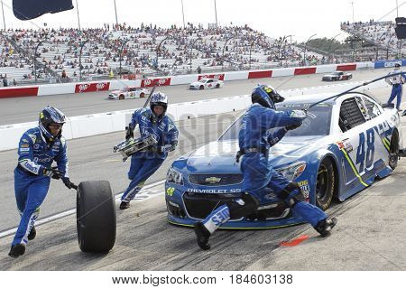 April 30, 2017 - Richmond, Virginia, USA: Jimmie Johnson (48) comes down pit road during the Toyota Owners 400 at Richmond International Speedway in Richmond, Virginia.