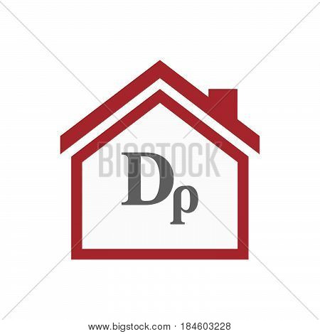 Isolated House With A Drachma Currency Sign