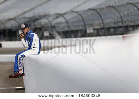 April 28, 2017 - Richmond, Virginia, USA: Trevor Bayne (6) hangs out on pit road prior to qualifying for the Toyota Owners 400 at Richmond International Speedway in Richmond, Virginia.