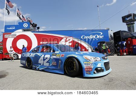 April 28, 2017 - Richmond, Virginia, USA: Kyle Larson (42) takes to the track to practice for the Toyota Owners 400 at Richmond International Speedway in Richmond, Virginia.