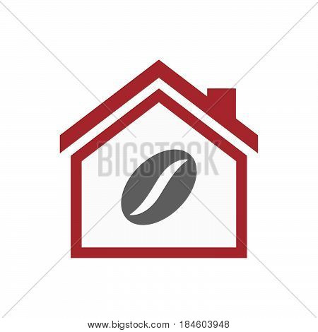 Isolated House With A Coffee Bean