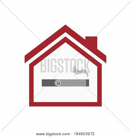 Isolated House With An Electronic Cigarette
