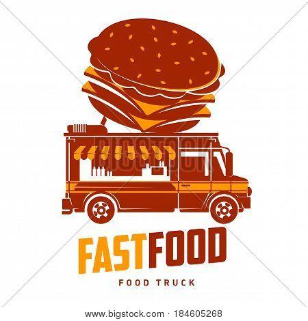 Food Truck Vector Flat Illustration