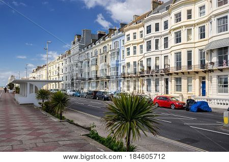 The Grand Parade in Hastings in Sussex on the south coast of England