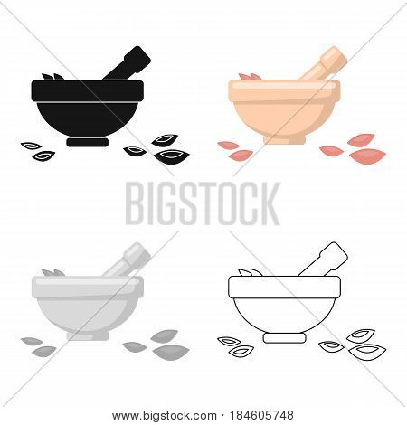 Salt bowl icon of vector illustration for web and mobile design