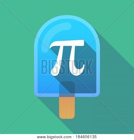 Long Shadow Ice Cream With The Number Pi Symbol