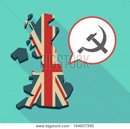 Long Shadow Uk Map With  The Communist Symbol