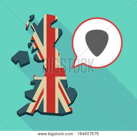 Long Shadow Uk Map With A Plectrum