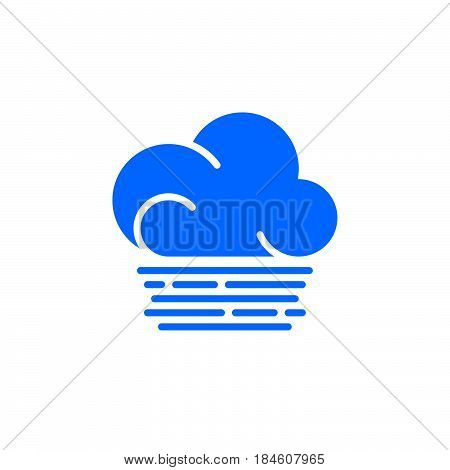 Fog cloud icon vector filled flat sign solid colorful pictogram isolated on white. Weather forecast symbol logo illustration