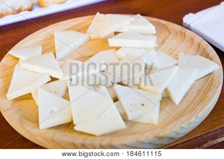 Delicious ibores cheese Elaborated in caceres. Goat cheese