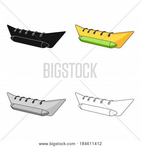 Water attraction banana.Summer rest single icon in cartoon style vector symbol stock web illustration.